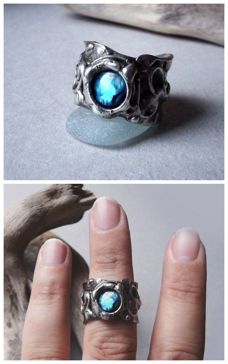 Abalone ring by Alice Savage. Artisan jewelry, bohemian, hippie, mermaid