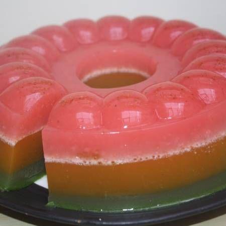 Colorful veggie n fruit pudding