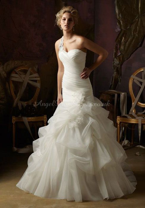 One shoulder strap. wedding dress,wedding dresses