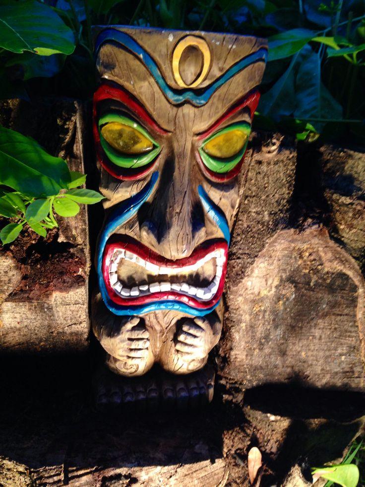 Diy Use Nail Polish To Paint Tiki Bright Colors Tiki Head Tiki Tiki Bar