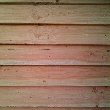 Building Projects: Douglas fir cladding, Goodrich