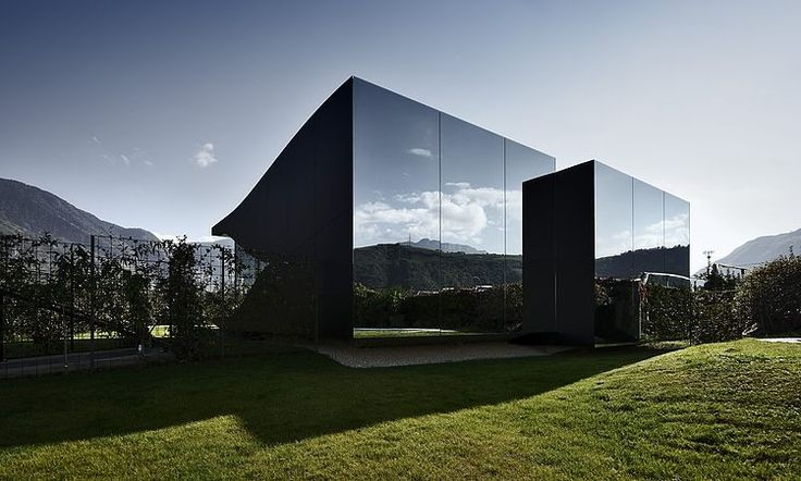 Mirror Houses by Peter Pichler Architecture - South Tyrolean Dolomites, outside the city of Bolzano, Italy