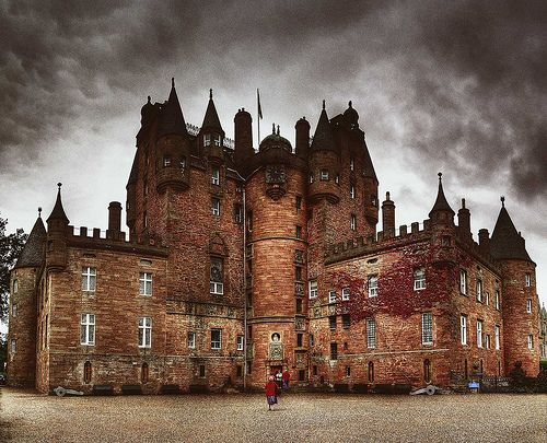 Glamis Castle in Scotland, where King Malcolm II was killed in 1034. Went there with my mom in 1997 during our five day tour of the Highlands.