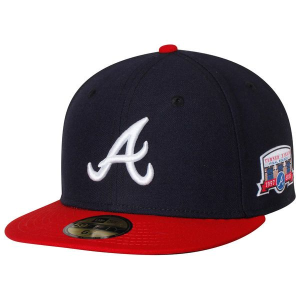 Atlanta Braves New Era Home Home Turner Field Authentic Collection 59FIFTY Fitted Hat - Navy/Red - $37.99