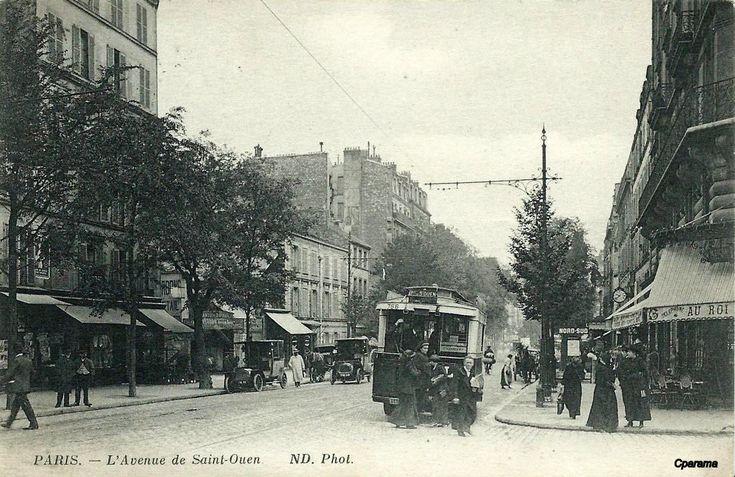 Avenue de Saint Ouen et le carrefour Mercadet.