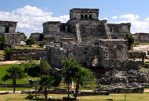 The ruins at Tulum, Riviera Maya, Mexico