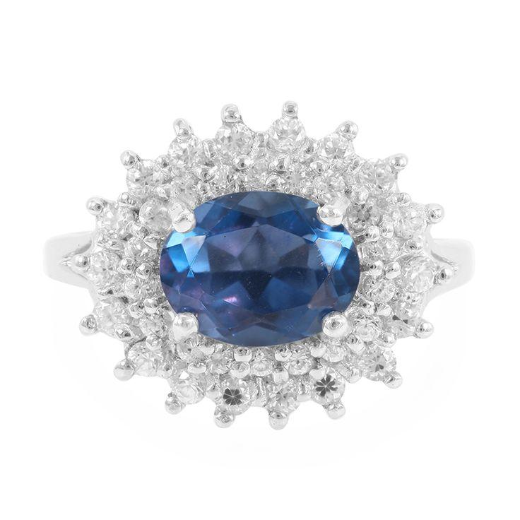 Bague+en+argent+et+Fluorite+à+couleur+changeante+-+un+bijou+à+la+conception+exceptionnelle,+disponible+en+exclusivité+chez+Juwelo.+Avec+certificat+d'authenticité.