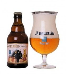 Cerveja Augustijn Grand Cru, estilo Belgian Golden Strong Ale, produzida por , Bélgica. 9% ABV de álcool.