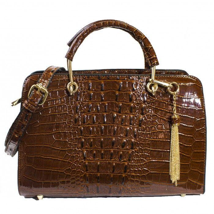 Petra Exotic Structured Satchel | Discount Handbags & Purses | Handbag Heaven
