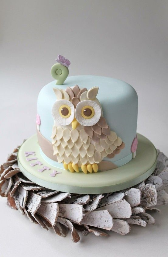 83 best OWL Fondant Cake images on Pinterest Owls Fondant cakes