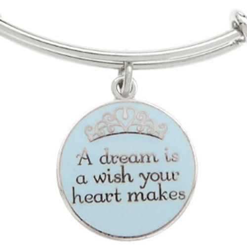 Your WDW Store - Disney Alex and Ani Charm Bracelet - A Dream is a Wish - Silver
