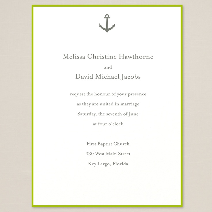 Nautical wedding invitations! Perfect for a beach setting (ahem, my dream wedding)