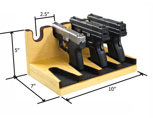 Quality Rotary Gun Racks, quality Pistol Racks - 4-Gun Pistol Rack