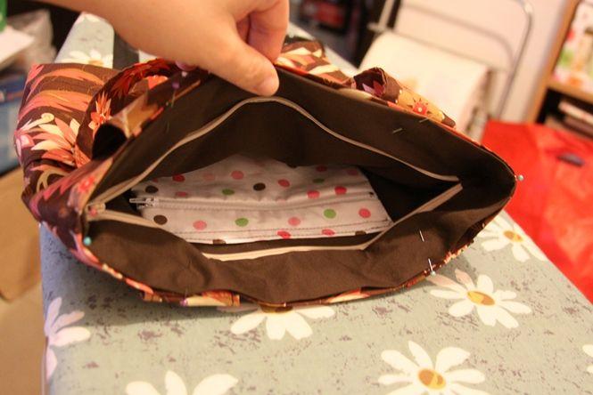 How to sew a handbag with a zipper closer. tutorial in Hebrew