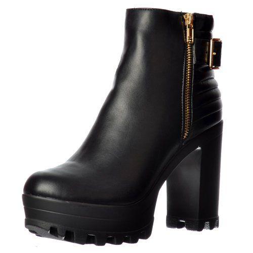 Botines negros cremallera   #apliques y fornituras para calzado 5 estrellas