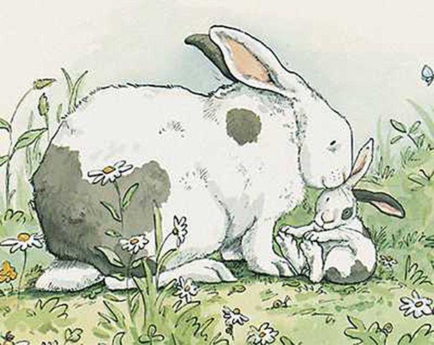 наших картинка маленький зайчонок улыбнулся маме девушка желтый зубки