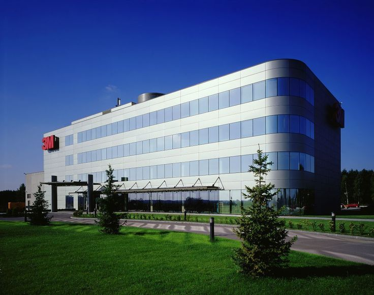 3M office in Nadarzyn, Poland designed in 90s made of a highly reflective high…