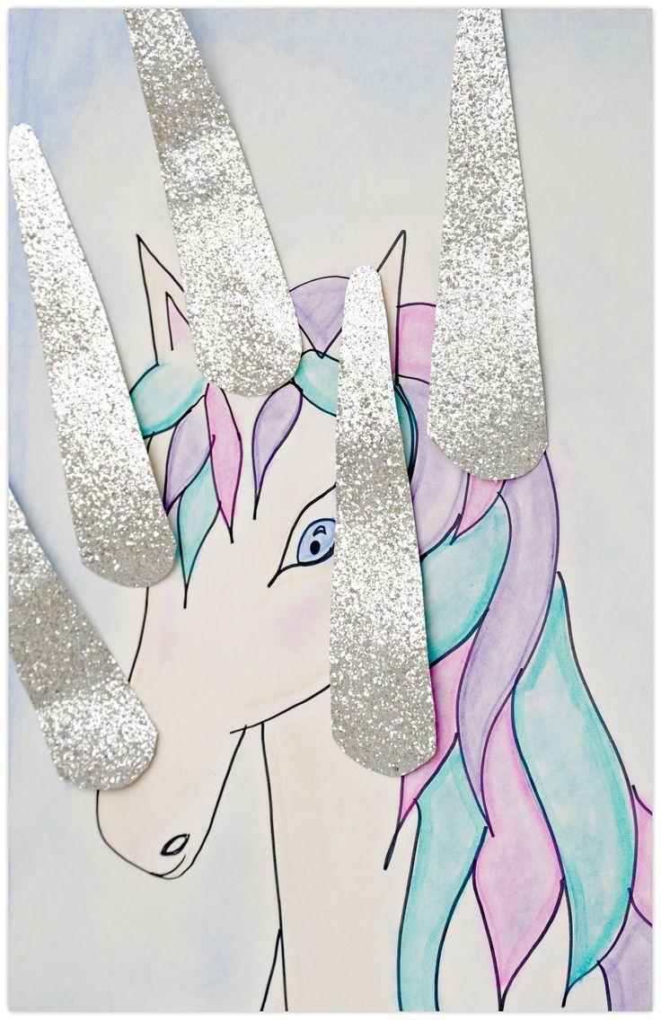 Pin the horn on the unicorn party game / ezeltje prikje eenhoorn variant