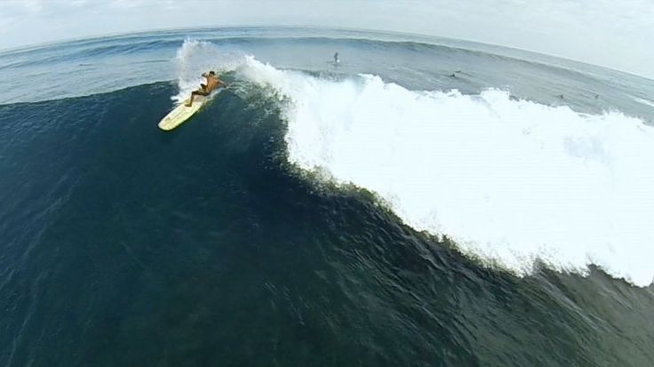 Justin Edwards flies his drone just feet from surfer, Ekolu Kalama. Check out his shots from the North Shore of Oahu.
