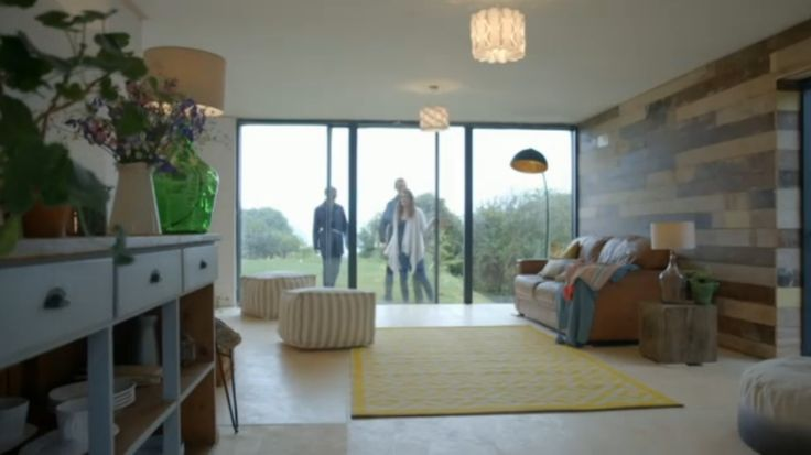 Reclaimed floorboard cladding, from Inside Out Homes, Channel 4.