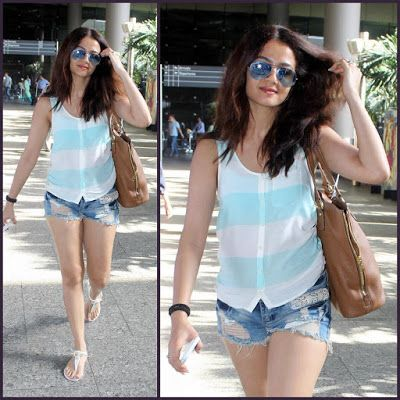 Bharatbytes: Surveen Chawla spotted at Airport