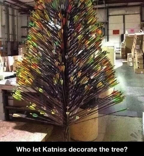 Looks like Katniss decorated the Christmas Tree