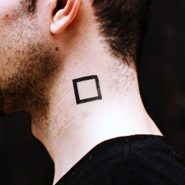 40 Tiny Tattoos For Men Yet Meaningful Neck Tattoo For Guys Square Tattoo Neck Tattoo