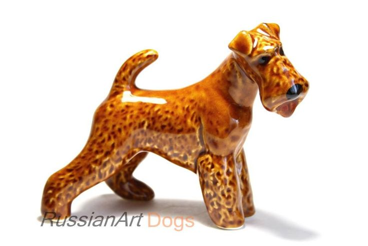 Irish Terrier dog figurine ceramics handmade, statue porcelain by RussianArtDogs on Etsy