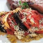 EatingWell's Eggplant Parmesan Recipe - with some pasta on the side, huge dinner and not too bad for you!