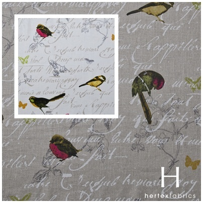 Design Robin will have you chirping this Spring.  www.hertex.co.za