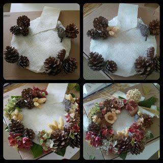 C mo hacer una bonita corona de navidad decoraci n - Como hacer coronas de navidad ...
