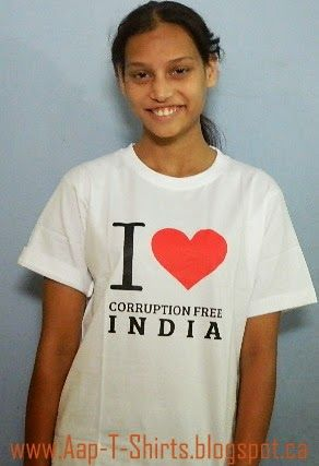 Aap T Shirts By Kraanti: Aap T Shirts By Model Madhuri Koshe