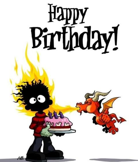 A lighter? We're going to need a flamethrower to light up your candles. #funny #birthday #wishes