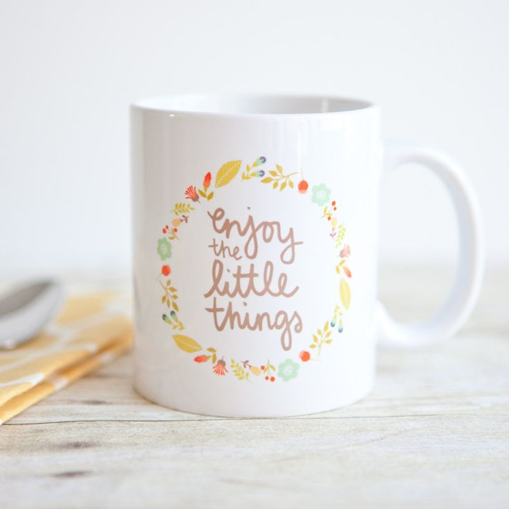Enjoy the Little Things Inspirational 11 oz Quote Mug - 11 Main
