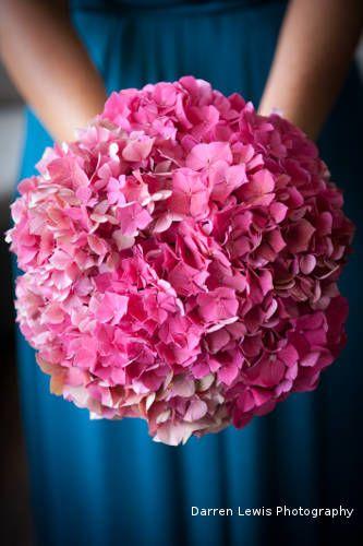 Lillipollen bouquet, hydrangeas, pink Darren Lewis Photography. #pretty #in #pink #prettyinpink #florals #wedding #flowers