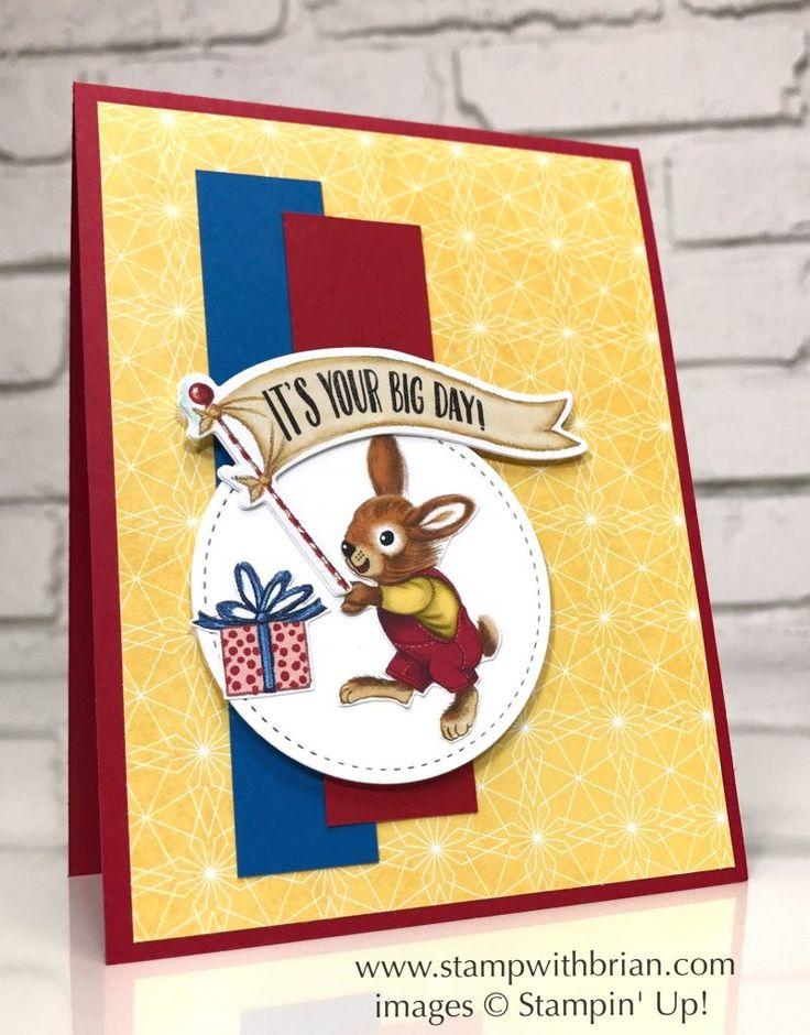 Birthday Delivery, Birthday Memories Designer Series Paper, Stampin' Up!, Brian King, FabFri111