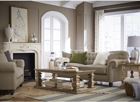 Living Room With The Classique Sofa | Havertys. Keeping RoomRoom GoalsFarmhouse  ChicFurniture ...