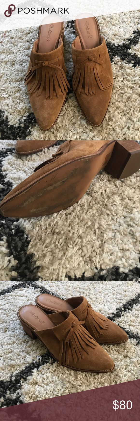 Madewell coveted fringe suede mules clogs Sz 10 Excellent condition! Madewell fringe mule clogs in a Sz 10! Madewell Shoes Mules & Clogs