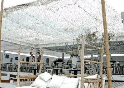 Equipez vos terrasses d 39 un filet de camouflage en p riode de grande chaleur jardin - Terras camouflagenetten ...