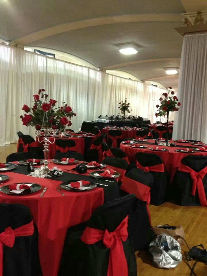 Red Black Pearls Wedding Our Old Hollywood Glam In 2018 Pinterest And