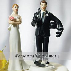Figurine de mariage #hockey - http://www.instemporel.com/s/12597_228266_figurine-mariage-fan-de-hockey #Sport #Wedding