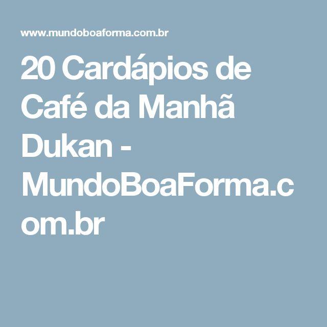 20 Cardápios de Café da Manhã Dukan - MundoBoaForma.com.br