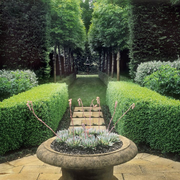 a symmetrical design by peter fudge landscape design
