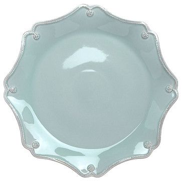 Berry and Thread Charger Plate - Blue transitional-charger-plates