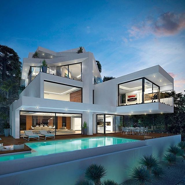 Modern Luxury House Design New Delhi Residence Pictures: Gran Design 1656 #alicante #spain #arxbro