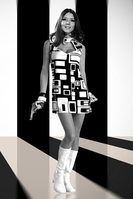 Diana Rigg as Emma Peel in The Avengers (60s TV)