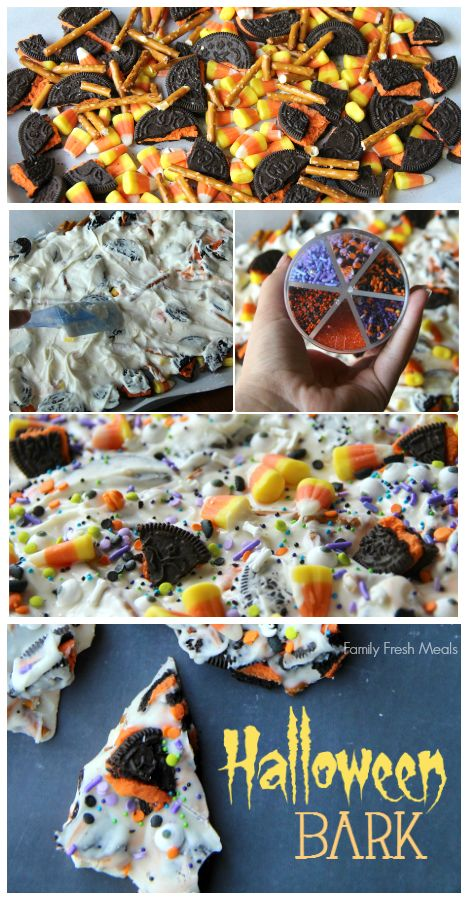 Halloween Bark - Fun Halloween Food for kids! FamilyFreshMeals.com