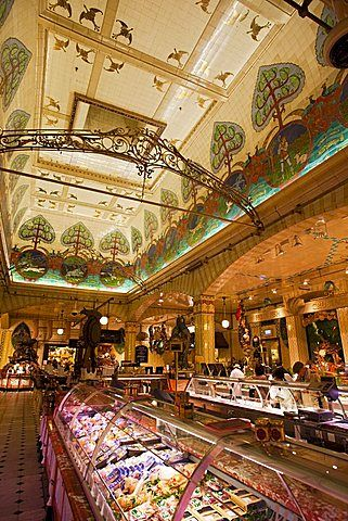 Food Hall, Harrods, Kensington, London, England, United Kingdom, Europe