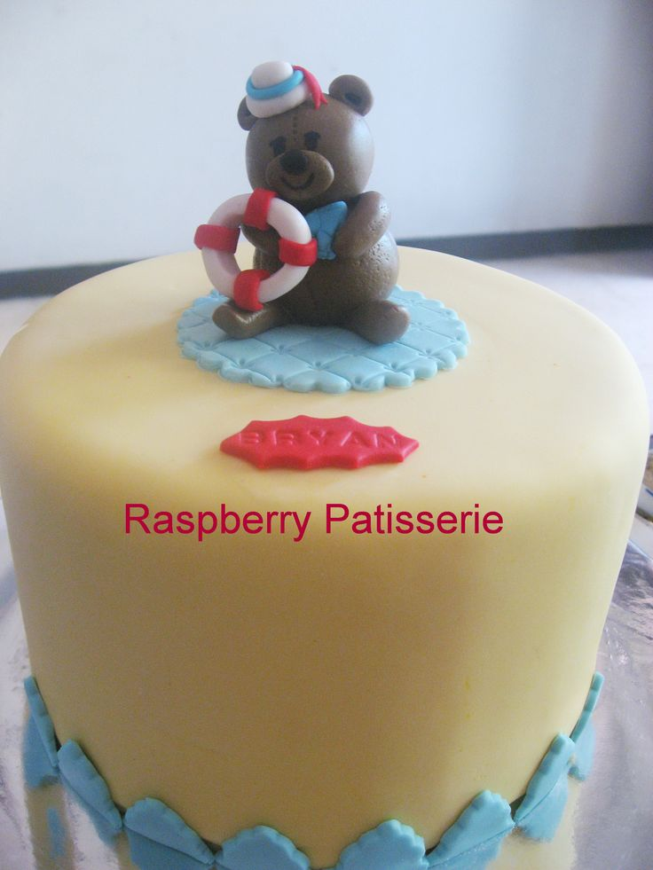 Navy bear manye cake