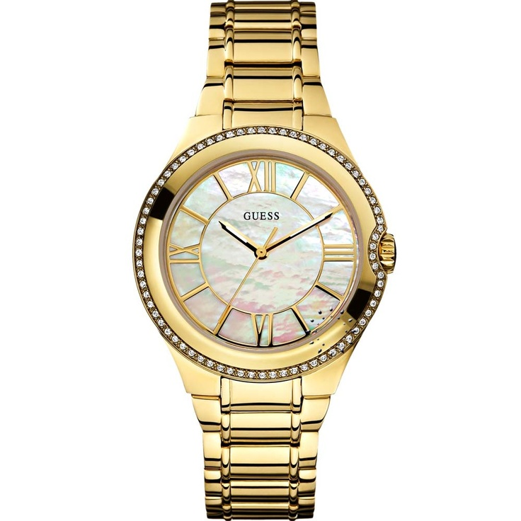GUESS Moonbeam Crystal Gold Stainless Steel Bracelet  Μοντέλο: W0112L1  Τιμή: 165€  http://www.oroloi.gr/product_info.php?products_id=30454
